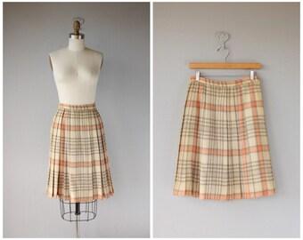 Vintage Wool 50s Skirt | 1950s Wool Skirt | Knee length Skirt | Vintage Plaid Skirt | 50s