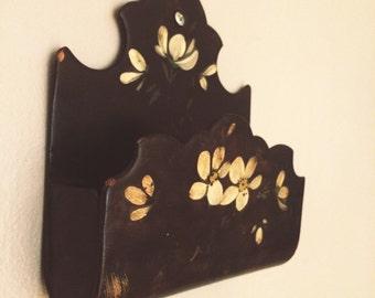 Vintage floral wall box