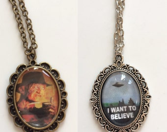 Handmade Pendant Necklaces i want to believe / in nightmares