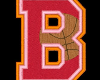 VARSITY BASKETBALL - 78 Machine Embroidery Font Designs Instant Download 4x4 5x7 6x10 hoop (AzEB)