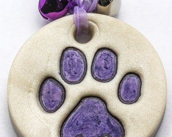 Sale / On Sale / Clearance Jewelry / Jewelry on Sale / Marked Down / Precious Paw Print Ornament - Purple - OR00031