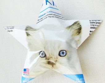 Christmas Stars, Cat, Pet Ag KMR Milk Replacer Food Supplement for Kittens and Small Animals, Blue White