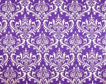 Purple Napkins Floral Damask Royal Purple Wedding Table Centerpiece Napkins Linens Decor