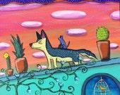 Happy Roof Dog Pop Art Happyart Painting
