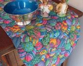 "Blue Easter Table Runner 36"" Reversible Colored Easter Eggs Table Runner Decorated Easter Egg Table Runner Easter Table Decor Easter Decor"