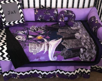5pc  nightmare before christmas baby bedding - Free personalized pillow