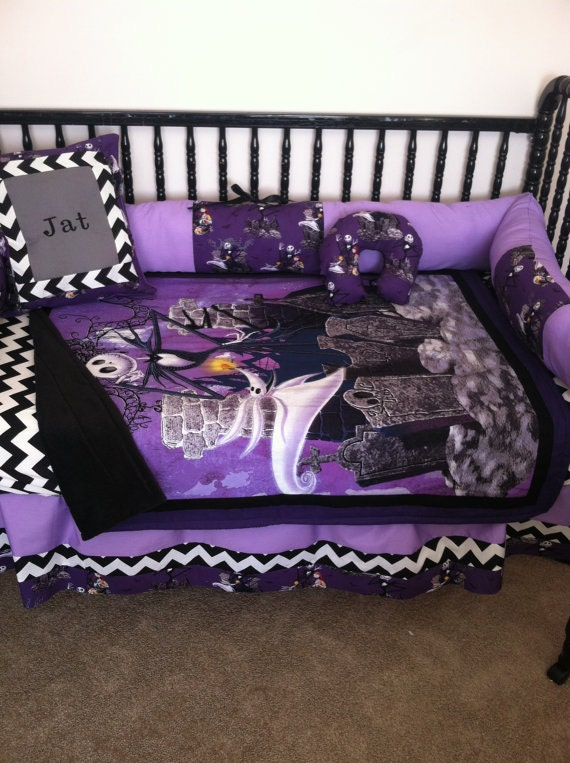 4pc Nightmare Before Christmas Baby Bedding Free