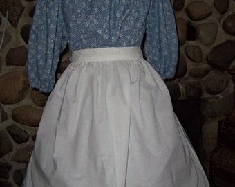 Ladies Colonial Prints Dress Costume Civil War Pioneer Prairie
