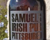 Amber Beer Growler 64oz.  Reusable Custom Etched for Brewers, Craft Beer, Lumberjacks, Groomsman, Grooms, Wedding, by Jackglass on Etsy.com