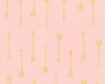 Michael Miller - Arrow Flight Collection - Arrows in Blush Metallic