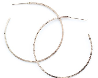 38mm Hoops -  Square Wire 14kt Gold Filled, Sterling Silver, Argentium Sterling Silver or Antique Sterling Silver