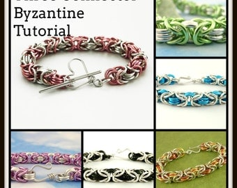 PDF Three Connector Byzantine Chainmaille Tutorial