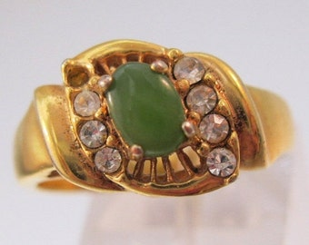 BIGGEST SALE of the Year Genuine Jade Ring Size 8 Vintage Jewelry Jewellery