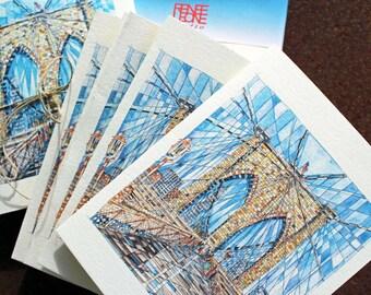 Brooklyn Bridge Notecards