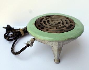 Vintage Westinghouse Hot Plate, Mint Green Kitchen Decor, Single Burner Hotplate, 1940s Kitchen, Restaurant Decor