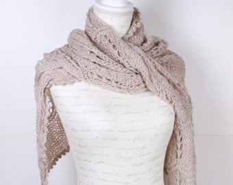 Shawl ,White ecru,Perfect for winter, Extra Large