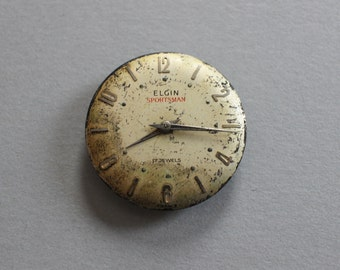 Vintage Elgin Sportsman Watch Dial And Movement