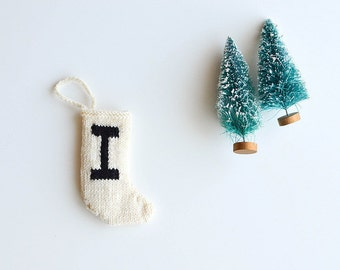 mini stocking ornament