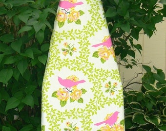 Ironing Board Cover - Mockingbird in Pink