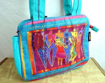 Vintage Colorful Rainbow Cat 90s Tote Bag by Laurel Burch