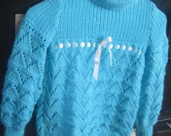 Custom Hand knit sweater for  your young one. You chose color and size 1-5T
