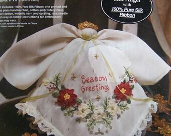 Vintage Bucilla Silk Ribbon Embroidery Silk Angel Kit 100% Pure Silk Ribbon