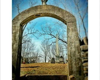 8 x 10 Kentucky Cemetery from the 1800s