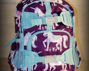 Unicorn Pottery Barn Mini Preschooler Backpack - Monogram included