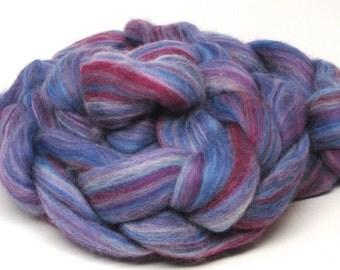 Merino Wool Roving  Amethyst 3.8 ounces