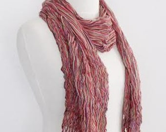 Multicolor pashmina scarf(-red-beige)-Ready for shipping