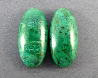 Parrot Wing Chrysocolla Designer Cabochon Matched Pair SALE 33% OFF