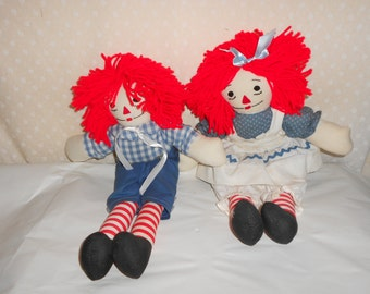 Raggedy Ann and Andy vintage home made