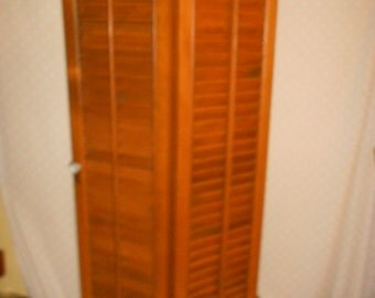 Shutters Wood  Louvered Golden Brown  36 inches tall