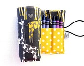 Crayon Roll - Giraffe Love - spotted love tula 24 crayons, animal party favor, toddler gift, stocking stuffer
