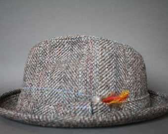Vintage Pendleton Wool Hat with Feathers
