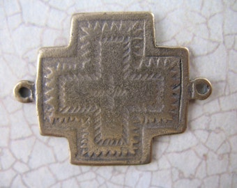 Bronze Link Southwest Style Cross Links Religious Supplies Bronze Crosses Rosary Supplies B1026LS