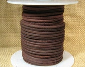 3mm Round Suede Cord - Dark Brown - Choose Your Length