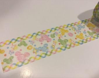 "30mm Pastel Mickey washi tape sample 18"""