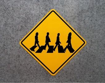 ABBEY ROAD CROSSING   /   Aluminum Beatles Collector's Plaque 16 x 16