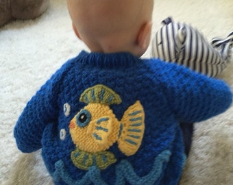 Fishy Fishy Cutie Cardigan Sweater