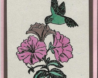 Hungry Hummingbird-Choice of Tag or Thank You Card