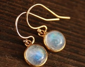 15% OFF Petite Rainbow Moonstone Earrings - 14KT gold fill