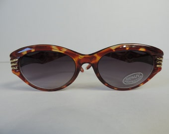 vintage tortoiseshell sunglasses 80s dolphin frame retro glasses new old stock
