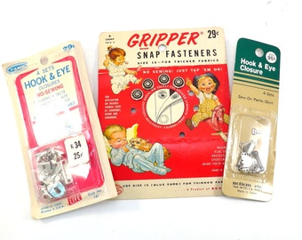 Gipper Snap Fasteners Vintage Snaps and Hook & Eye Closures
