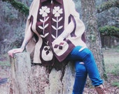 1960's Hippie Girl Haight Ashbury era  Cape  Suede Zipper Front
