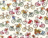 Windham Fabrics FLOWER PEDALS Bicycles- yards.