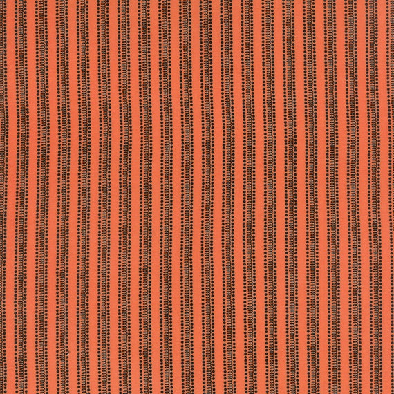 Moda Fabric Spooky Delights Halloween Orange And Black Ticking