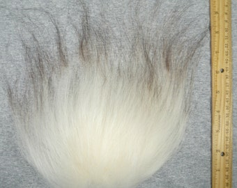 Troll Doll Replacement Wig Hair Mohair-Natural White with Dark Brown Tips Soft Wool Icelandic sheepskin