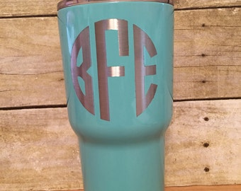 Powder Coated RTIC tumbler, Monogrammed Tumbler, RTIC cup, Stainless Tumbler, Custom RTIC