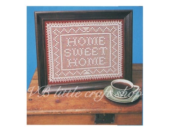 Home sweet home  crochet pattern. Instant PDF download!